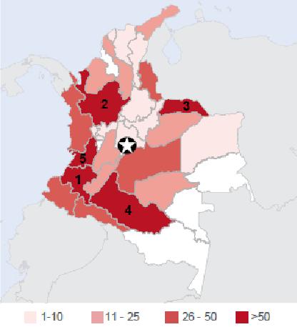 Die Humanitäre Situation in Kolumbien. Factsheet von Caritas International und Diakonie Katastrophenhilfe.