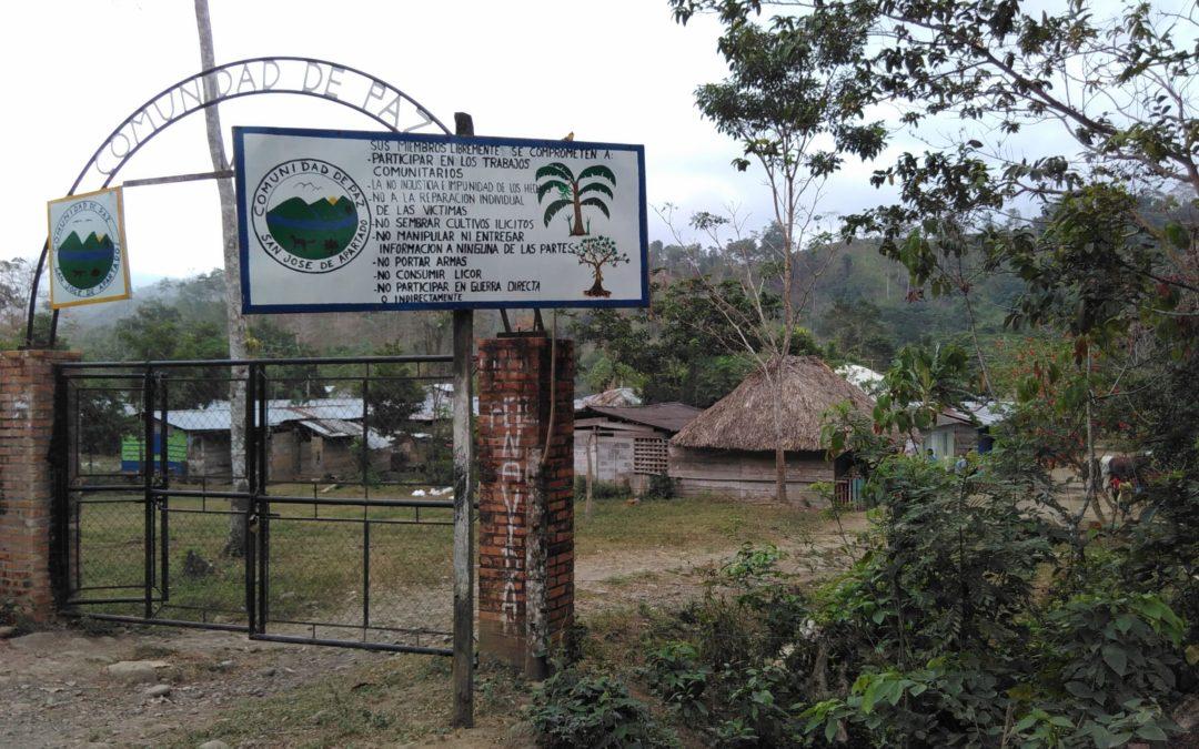 Eilaktion amnesty: Friedensgemeinde San José de Apartadó