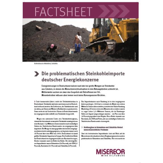 Factsheet: Die problematischen Steinkohleimporte deutscher Energiekonzerne