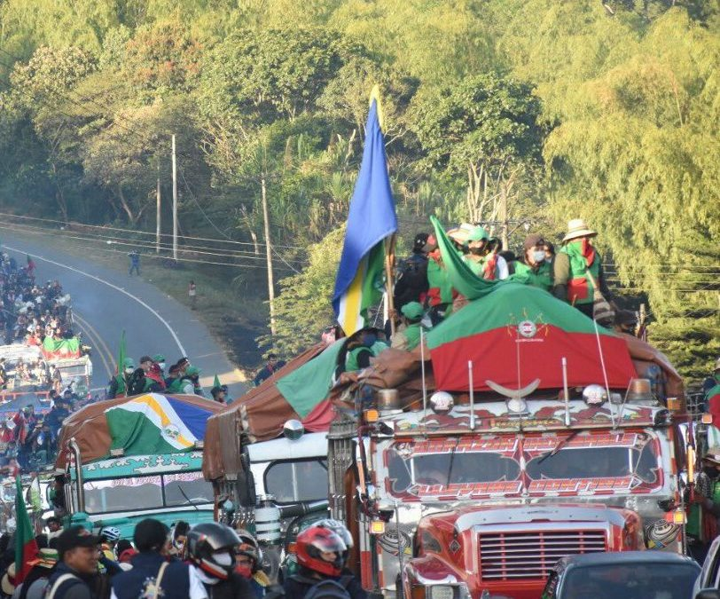 Oidhaco calls for guarantees for peaceful demonstration of Indigenous (La Minga) starting on 10.10.2020