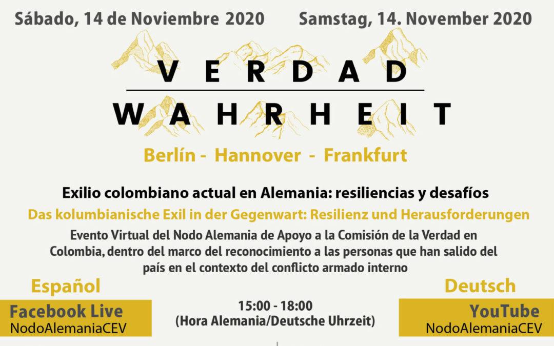 14.11: Online-Panel: Das Kolumbianische Exil in der Gegenwart: Resilienz und Herausforderung