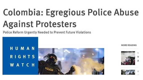 HRW Bericht: Egregious Police Abuses against Protesters