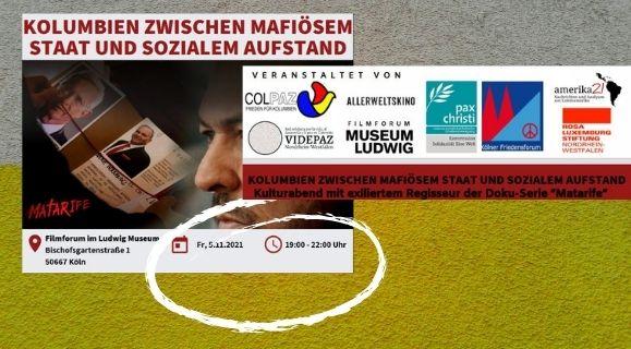 """Köln, 05.11.21: Mafiöser Staat und sozialer Aufstand: Abend mit Filmausschnitten und dem Regisseur der Doku-Serie """"Matarife"""" Film"""